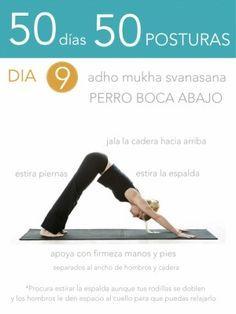 50 días 50 posturas. Día 9. Perro boca abajo Yoga Principiantes f598e9e15f3a