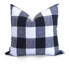 Buffalo Check Pillow Cover - Black - Decorative Pillow