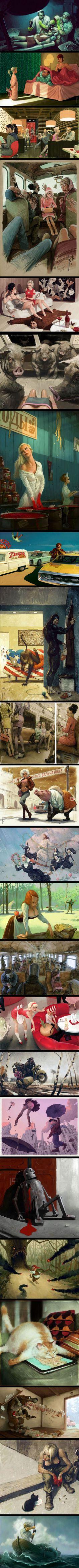 23 Dark Illustrations That Are Full Of Controversial Hidden Messages  - By Waldemar von Kazak (NSFW)