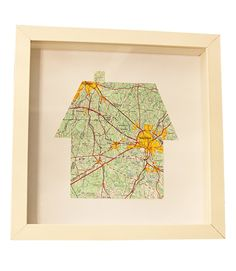 The conventional wall map gets a personalized touch when the frame matting is shaped to show the significance of the locale. All you'll need is a map, a piece of heavy card stock, and a sharp knife. Get the tutorial from The Handcrafted Life  - GoodHousekeeping.com
