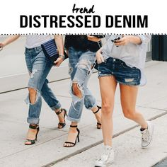 TREND ALERT! Distressed denim is a must for this summer! www.9straatjesonline.com