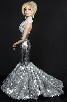 OOAK gown for Sybarite Gen 3:2 and Ficon dolls http://michaelscottdesigns.weebly.com/