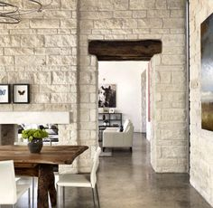 Love the stone walls and slate ground