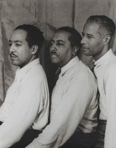 Langston Hughes, Arna Bontemps and Harold Jackman, 1942  photo by Carl Van Vechten