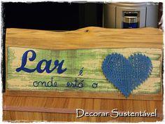 decorar sustentável: Plaquinha com madeira de demolição
