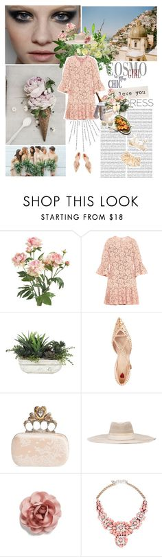 """So Pretty: Dreamy Dresses"" by cheroro ❤ liked on Polyvore featuring Katie, Peony, Branca, Valentino, Lux-Art Silks, Gucci, Alexander McQueen, Maison Michel, Cara and Shourouk"