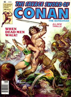 The Savage Sword of Conan #55 - Black Lotus and Yellow Death (Issue)