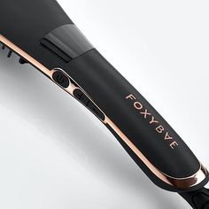 """Foxybae Rose Gold Straightening Brush What It Is Effortlessly bring your hair to life using the FoxyBae Hair Ceramic Tourmaline Straightening Brush. It doesn't matter if you have curls or waves, this styling tool brushes them all away, leaving your hair straight and sleek without all the hassle. It's quick and easy to use, so you'll be feeling foxy in no time. What You Get Rose Gold Straightening Brush (approx: 13.39""""L x 4.41""""W x 2.36""""H) What It Does Heats up to a safe 185°C/365°F in mere second Ceramic Hair Straightener, Best Hair Straightener, Thick Curly Hair, Soft Hair, Curly Girl, Straight Hairstyles, Cool Hairstyles, Best Hair Brush, Bad Hair Day"""