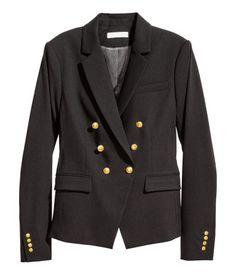 Double-breasted Jacket | Black | Ladies | H&M US