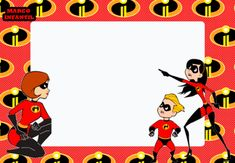 Marcos de Los Increibles 2 | Marcos Infantiles Birthday Themes For Boys, 6th Birthday Parties, 4th Birthday, Birthday Ideas, Birthday Cake, Incredibles Birthday Party, Frog Princess, Photo Booth Frame, Diy Centerpieces