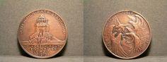 Völkerschlacht Denkmal 1913 Medaille - Bronze - Relief - 17,1g - 33mm
