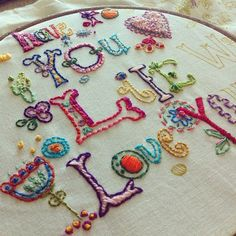 Love all the colors! #embroidery