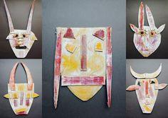 les petites têtes de l'art: Masques de cartons