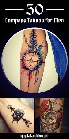 50 Creative Compass Tattoos for Men