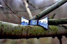 #галстукбабочка от #byirinaneilo выполнена из антикварной тарелки 60-х годов Англия #fashion #broch #boho