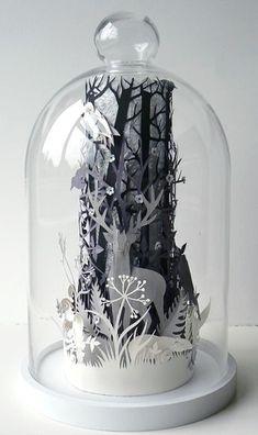 Glass dome art