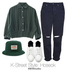 """K-Street Style: Hoseok"" by btsoutfits ❤ liked on Polyvore featuring Topshop"