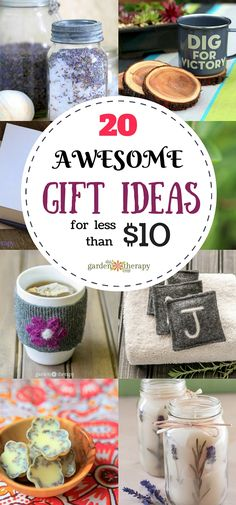 Awesome gifts under ten dollars? Yes! It's possible and here is how: make them yourself! There is one catch though. Homemade gift giving can often be as expensive or more than store-bought gifts. I know I have walked out of a craft shop looking at my receipt wondering how I spent so much on just …