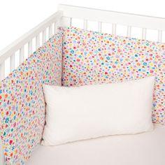Blue Cloud Crib Bumper Cover
