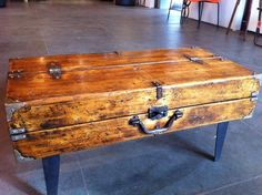 Antique Tool Box Coffee Table - $350 Unique, beautiful and useful!