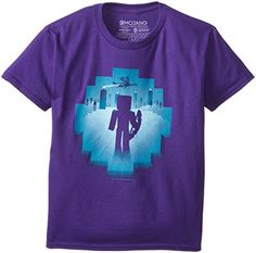 Purple, X-Small JINX Minecraft Big Boys Eye of Ender Premium Cotton T-Shirt