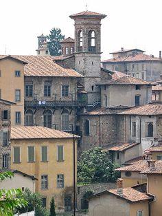 Haute-ville Bergamo, Italie