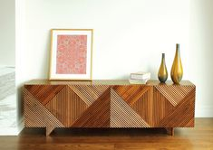 sweet idea to make an old sideboard from the 70s more modern. seen on designsponge-by -rosanna-ceravolo-