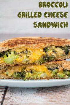 Broccoli Grilled Cheese Sandwich by Brooklyn Farm Girl
