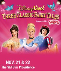 Prepare to step into a world of wonder where wishing is only the beginning and dreams really do come true in Disney Live! presents Three Classic Fairy Tales. Don't miss out, get your tickets now at www.thevetsri.com