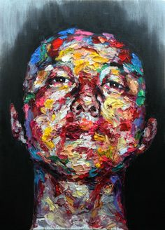[171] untitled oil on canvas 116.8 x 91 cm 2013 by KwangHo Shin, via Behance