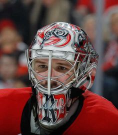 Cam Ward #30 of the Carolina Hurricanes