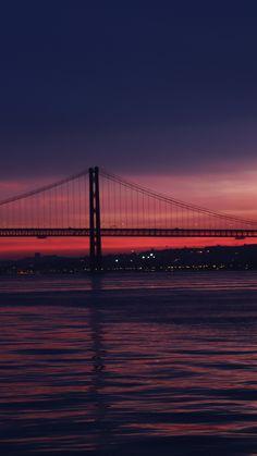 San Francisco's Golden Gate Bridge, bridge, night, sunset, sea, 720x1280 wallpaper