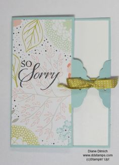 Stampin' Up! Scalloped Tag Topper Punch Makes a Beautiful Closure for your Greeting Card
