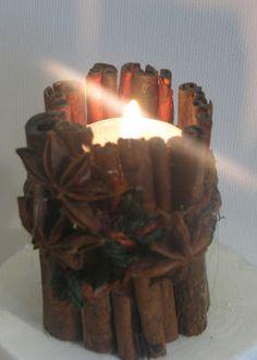 Pomysły plastyczne dla każdego DiY - Joanna Wajdenfeld: Pachnący świecznik z cynamonu