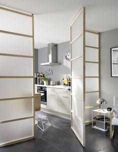 Cloison amovible, cloison coulissante, meuble cloison, paravent... - Côté Maison