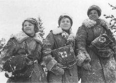Russian nurses in snow WWII