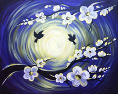 Blooming In The Moonlight at Lookout Taproom (Hard Cider Only) - Paint Nite Events