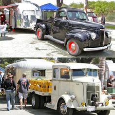 Wow!! Talk about some vintage camper goodness... we hope they take them camping and not just part of an RV show!