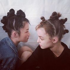 Knotted mohawk by Guido Palau for Marc by Marc Jacobs Spring/Summer 2015