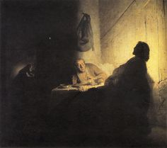 Rembrandt van Rijn - Christ at Emmaus risen from the dead
