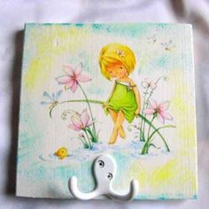 Clothes Hanger, Fish, Deco, Flowers, Plants, Model, Handmade, Painting, Doilies