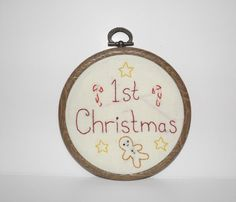 This adorable 1st Christmas ornament is a perfect way to celebrate baby's first Christmas or to give as a baby shower gift.