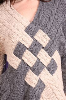 cable woven sweater