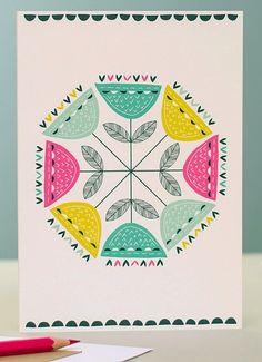 print & pattern: CARDS/WALLPAPER - jessica hogarth