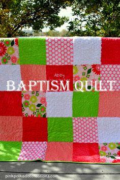 Minky Baptism Quilt.
