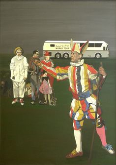 Peter Blake good use of negative space and ho he places is people.