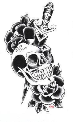 a tattoo design done on dan