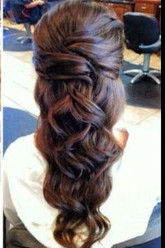 Half updo idea for Angie's wedding