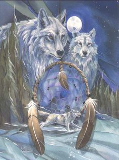 Wolfs and dream catcher