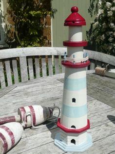 Decorative Wooden Lighthouse - Large